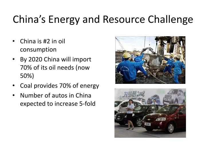 China's Energy and Resource Challenge