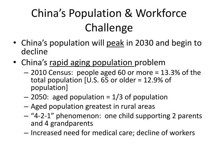 China's Population & Workforce Challenge