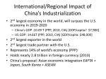 international regional impact of china s industrialization