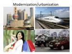 modernization urbanization