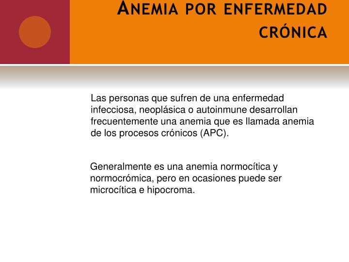 Anemia por enfermedad crónica