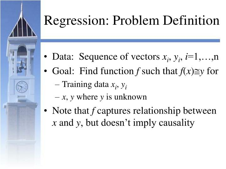 Regression: Problem Definition