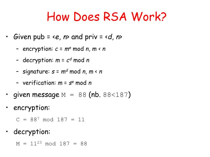 How Does RSA Work?