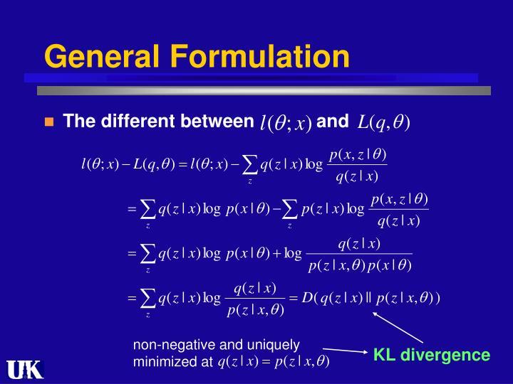 General Formulation