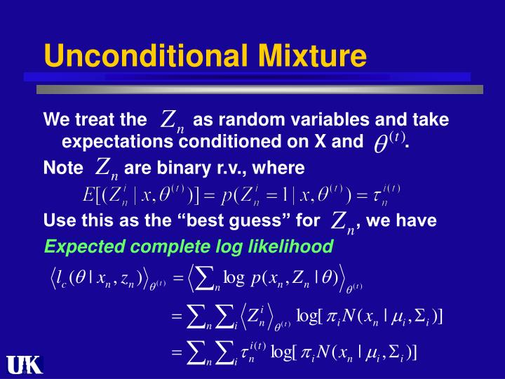 Unconditional Mixture