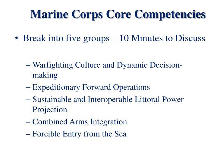 Marine Corps Core Competencies