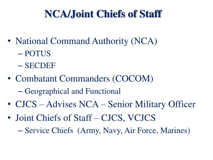 NCA/Joint Chiefs of Staff