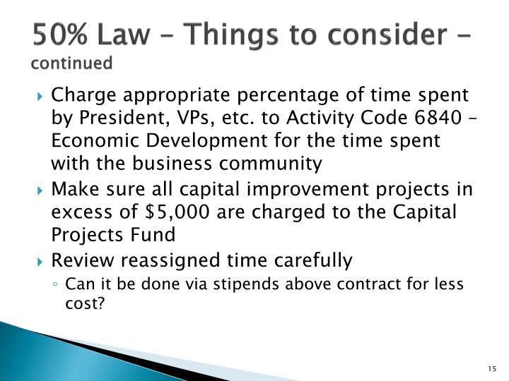 50% Law –