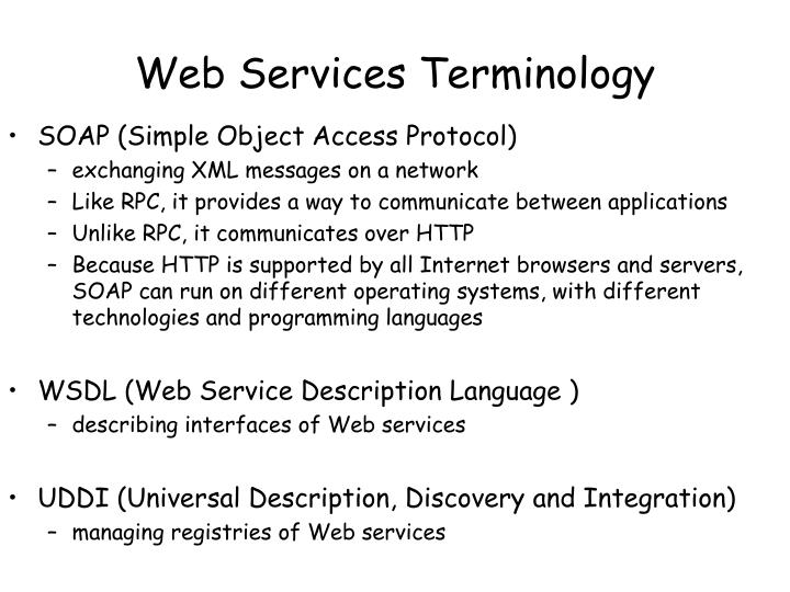 Web Services Terminology