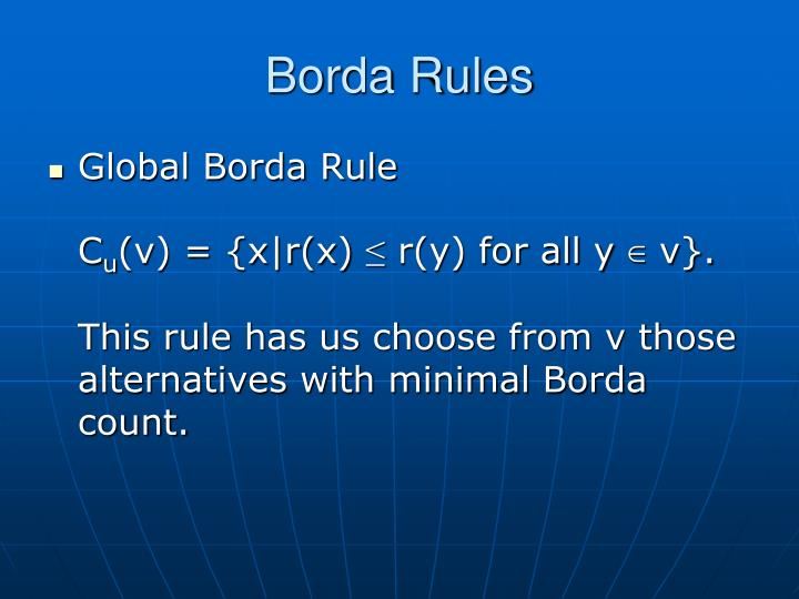 Borda Rules