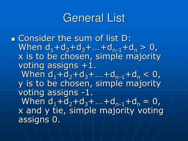 General List