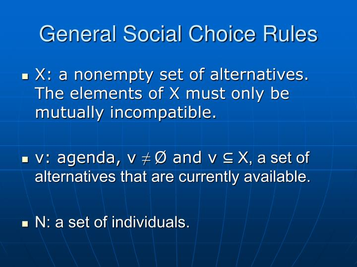General Social Choice Rules
