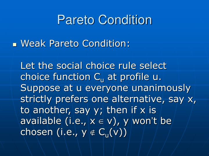 Pareto Condition