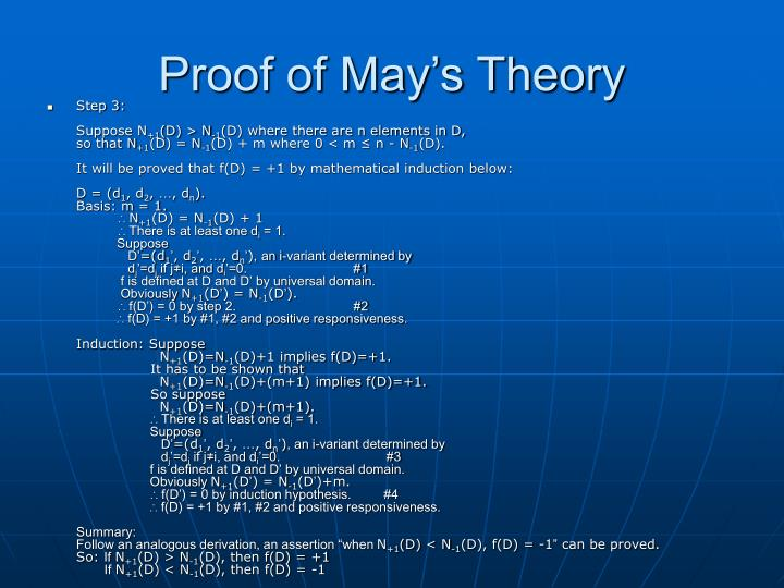 Proof of May's Theory