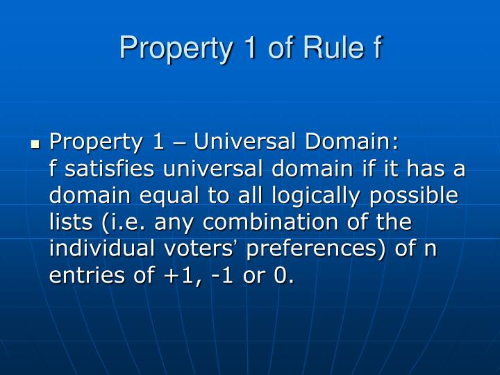 Property 1 of Rule f