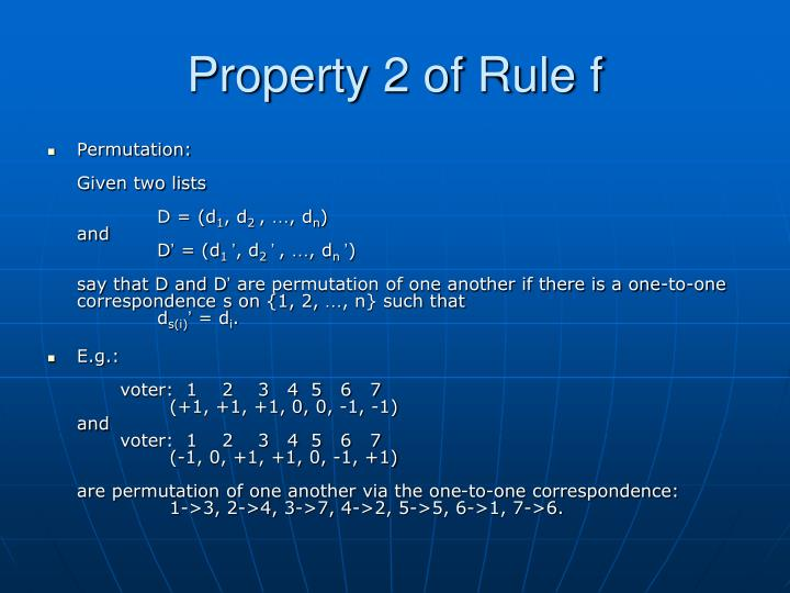 Property 2 of Rule f