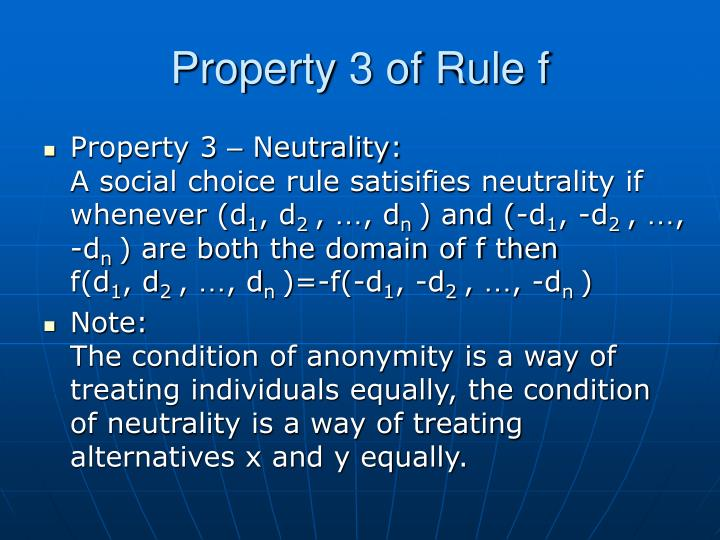 Property 3 of Rule f