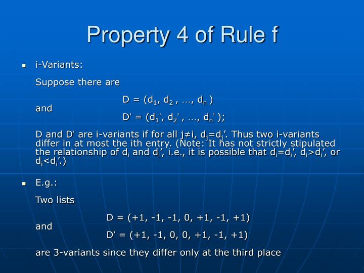 Property 4 of Rule f