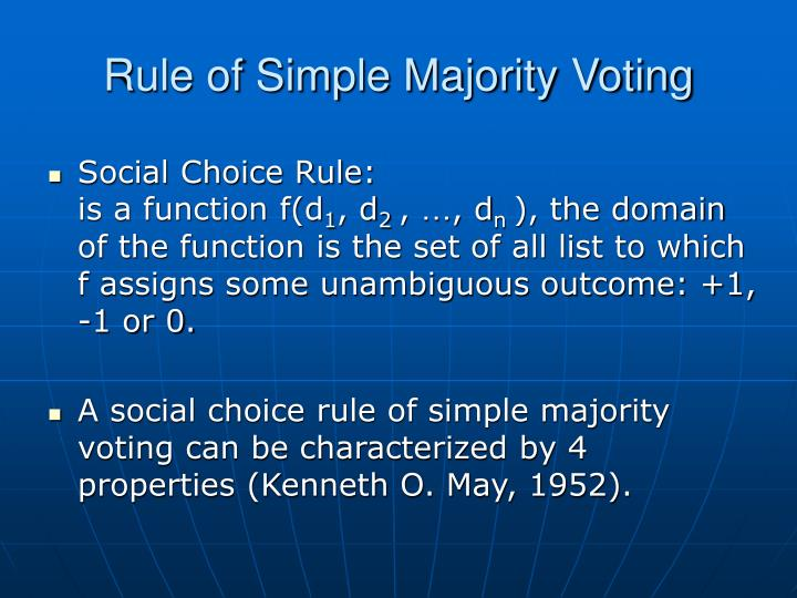 Rule of Simple Majority Voting