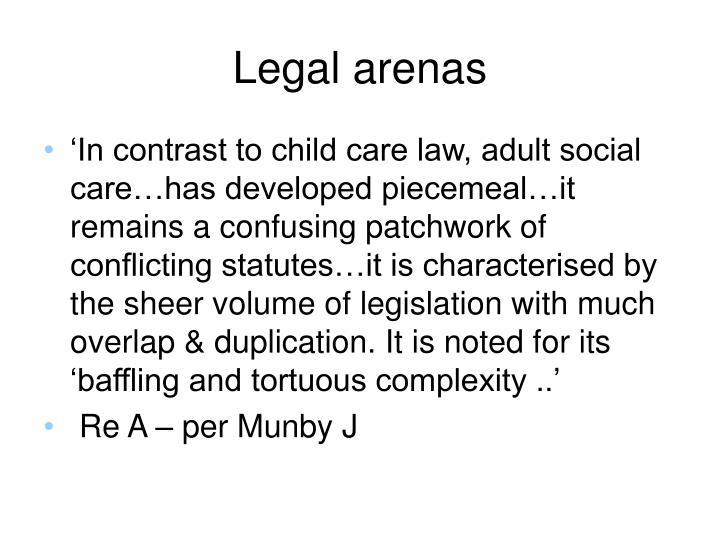 Legal arenas