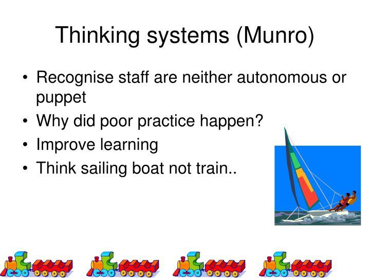 Thinking systems (Munro)