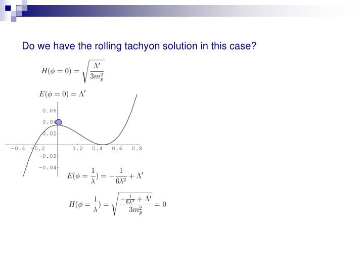 Do we have the rolling tachyon solution in this case?