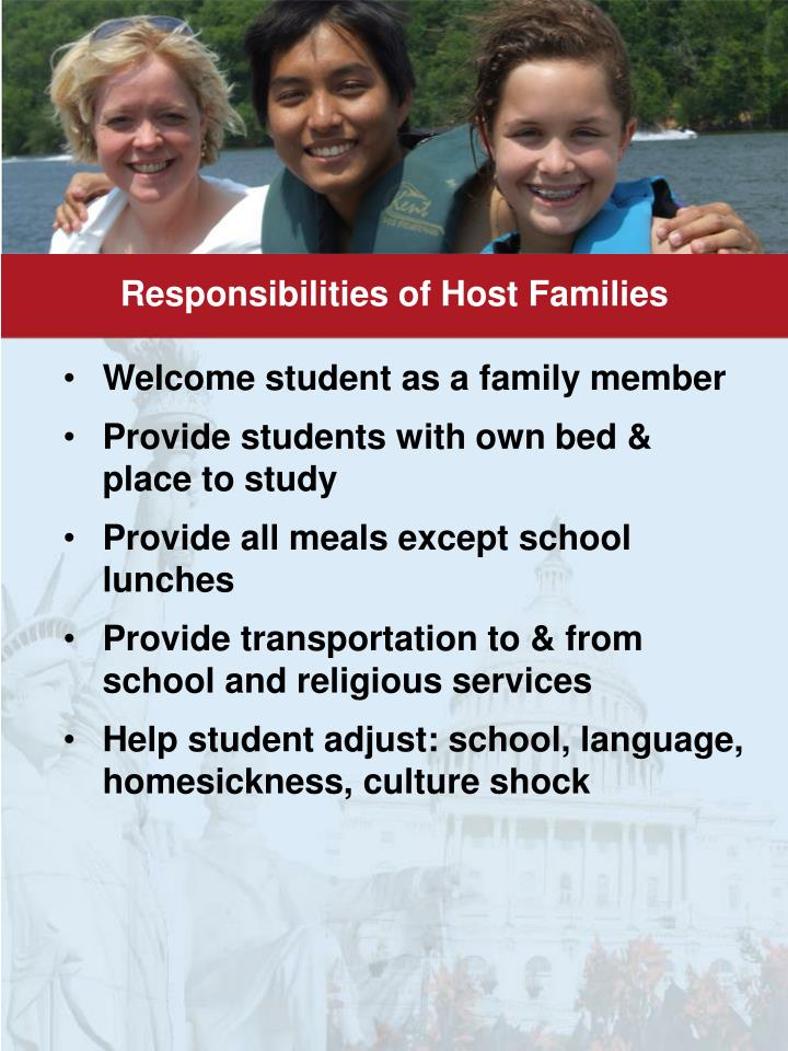 Responsibilities of Host Families