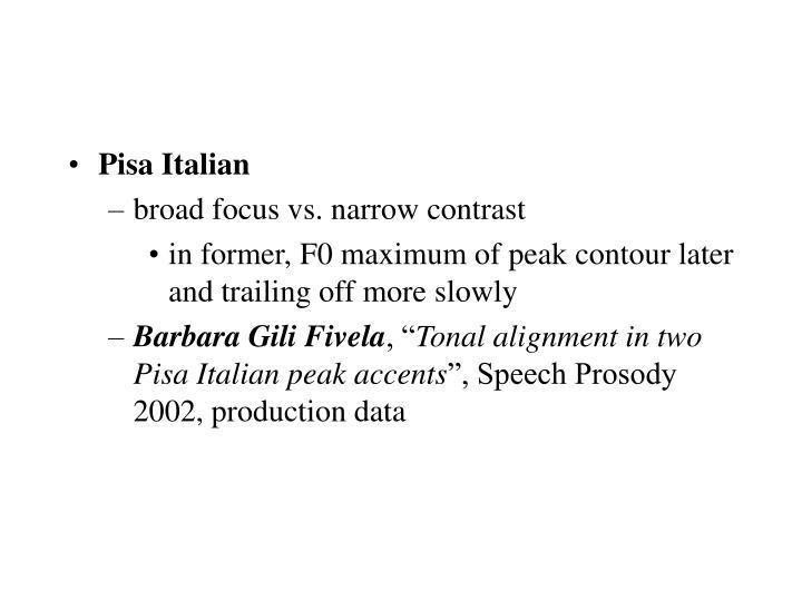 Pisa Italian