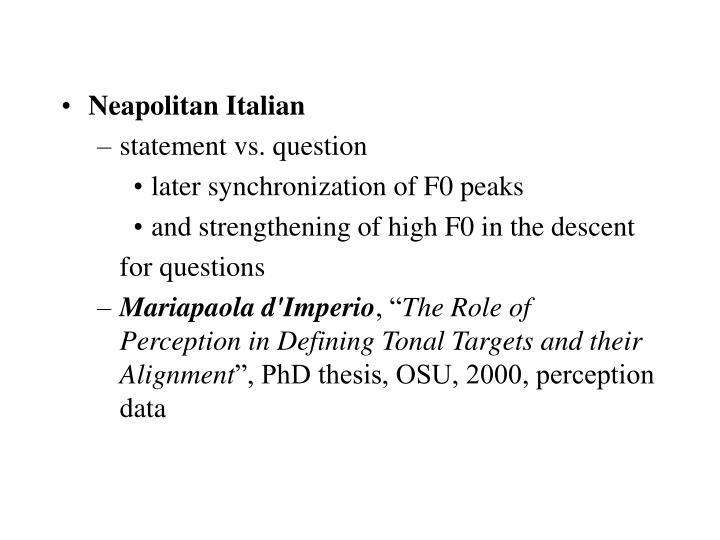 Neapolitan Italian