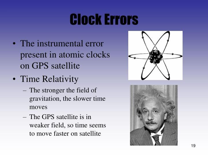 Clock Errors
