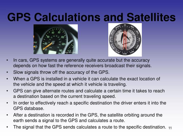 GPS Calculations and Satellites