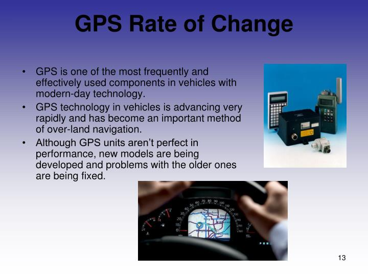 GPS Rate of Change
