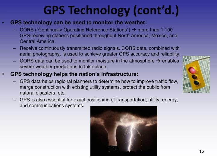 GPS Technology (cont'd.)