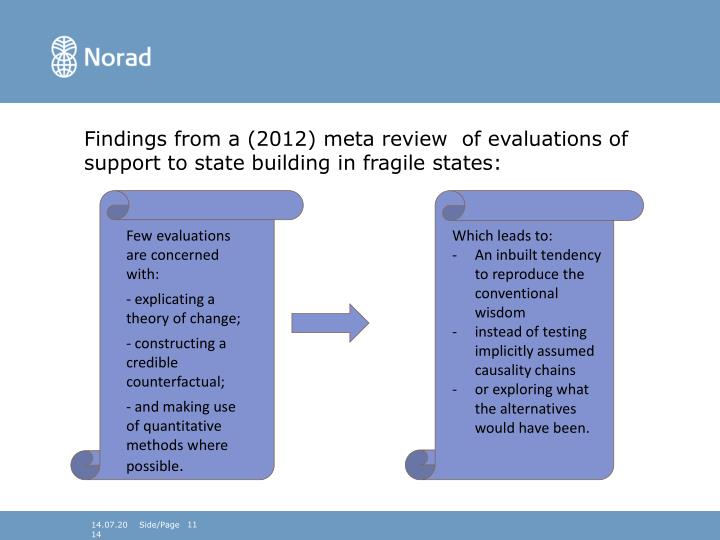 Findings from a (2012) meta review