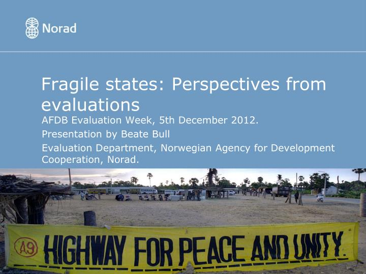 Fragile states perspectives from evaluations