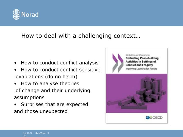 How to deal with a challenging context…