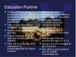 education partime