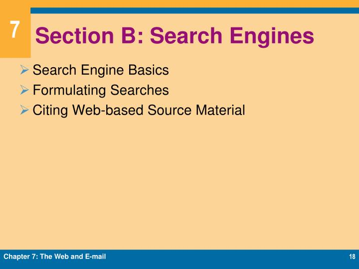 Section B: Search Engines