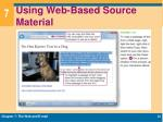 using web based source material