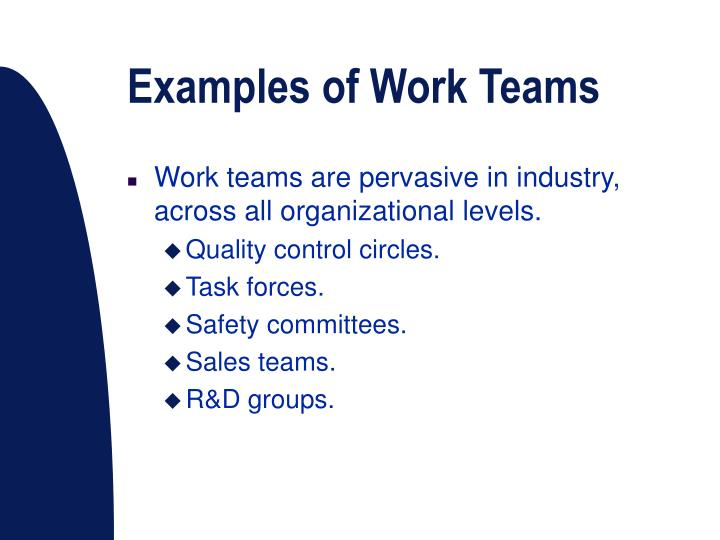 Examples of Work Teams
