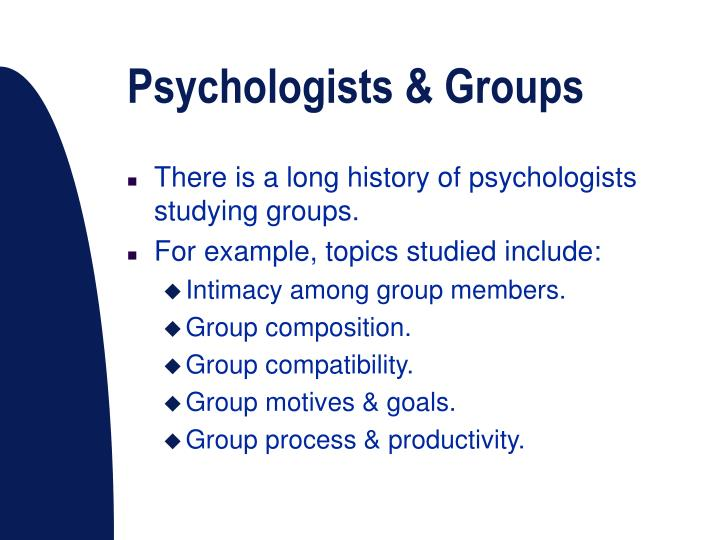 Psychologists groups