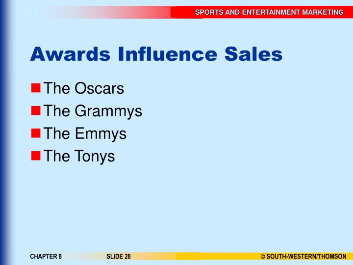 Awards Influence Sales