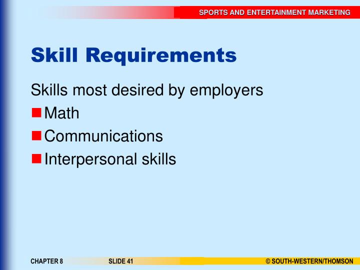 Skill Requirements