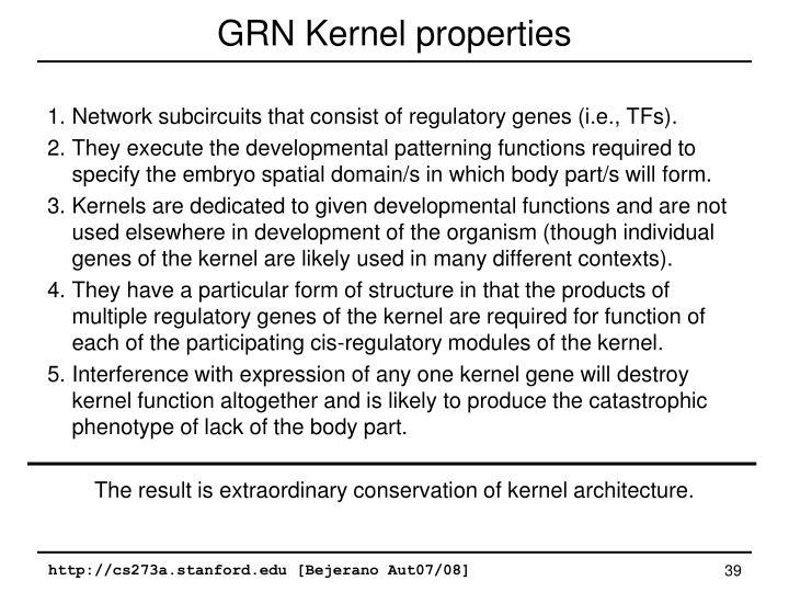 GRN Kernel properties