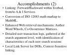 accomplishments 2