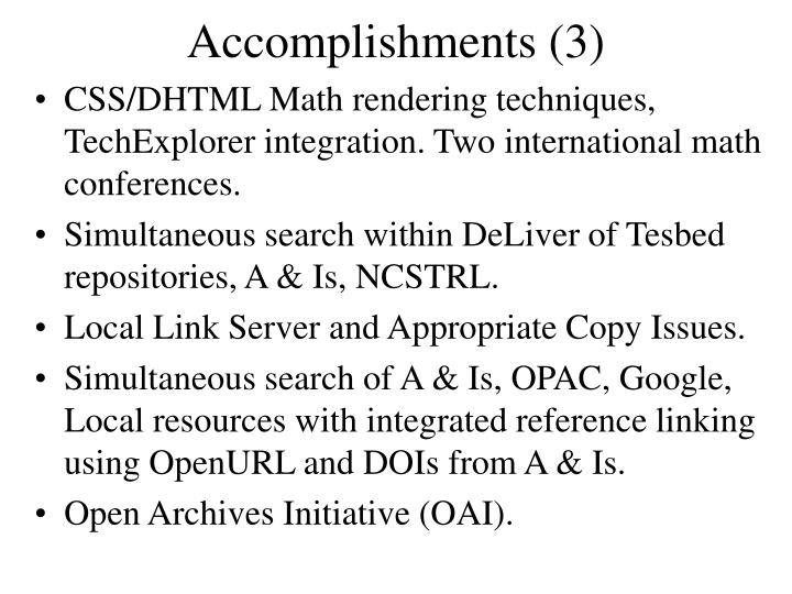 Accomplishments (3)