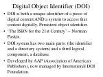 digital object identifier doi
