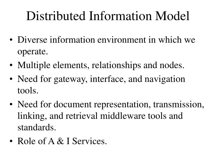 Distributed Information Model
