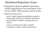 distributed repository issues