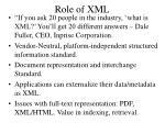role of xml